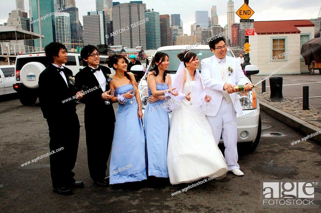 Stock Photo: Wedding Skyline Manhattan New York City USA.