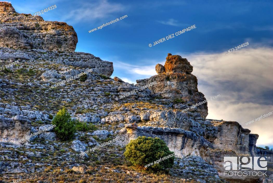Stock Photo: Sierra de Pela y Laguna de Somolinos Natural Monument. Somolinos. Guadalajara Province. Castilla-La Mancha. Spain.