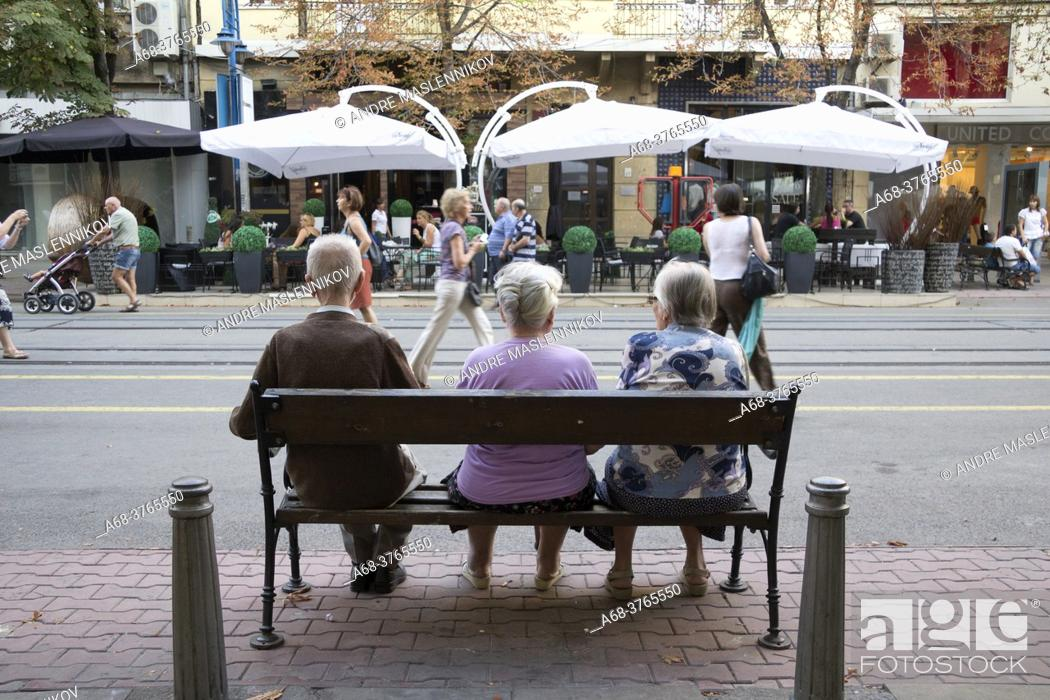 Imagen: Vitosha boulevard in Sofia. Bulgaria.