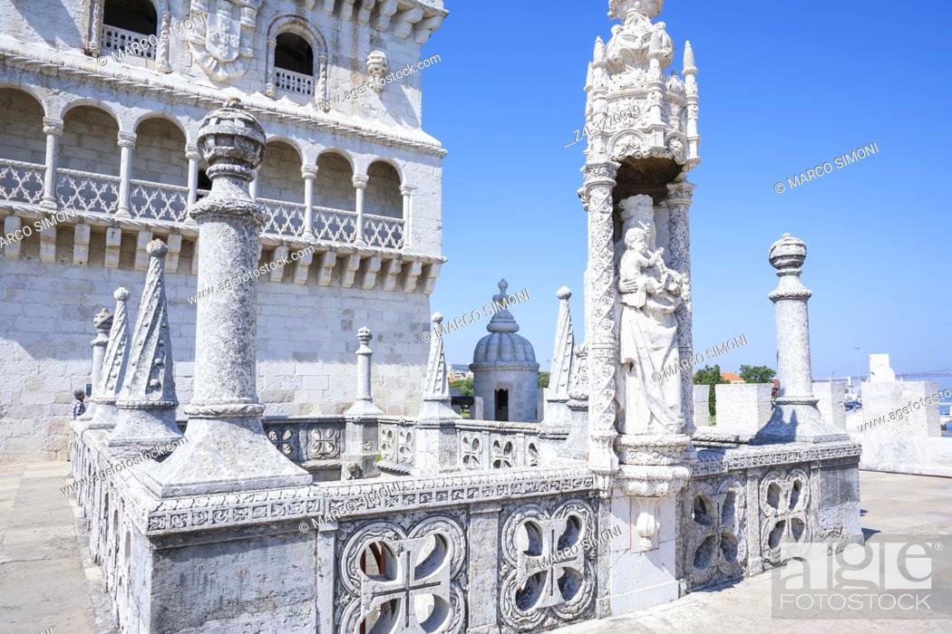 Stock Photo: Belem Tower, UNESCO World Heritage Site, Belem, Lisbon, Portugal, Europe.