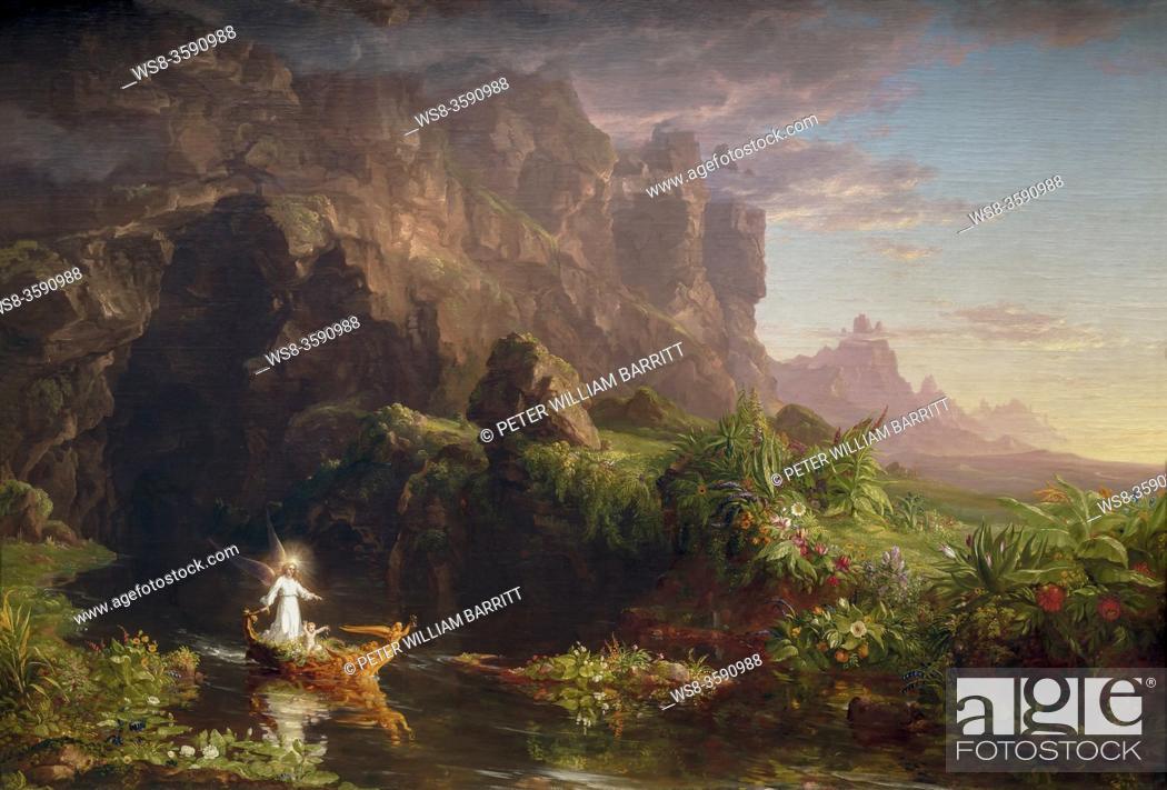 Photo de stock: The Voyage of Life: Childhood, Thomas Cole, 1842, National Gallery of Art, Washington DC, USA, North America.