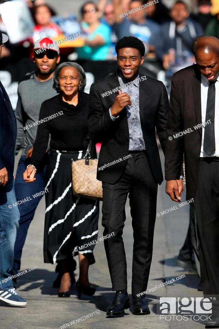 Chadwick Boseman Seen Arriving To The Abc Studios With His Family Featuring Chadwick Boseman Where Stock Photo Picture And Rights Managed Image Pic Wen Wenn23800152 Agefotostock