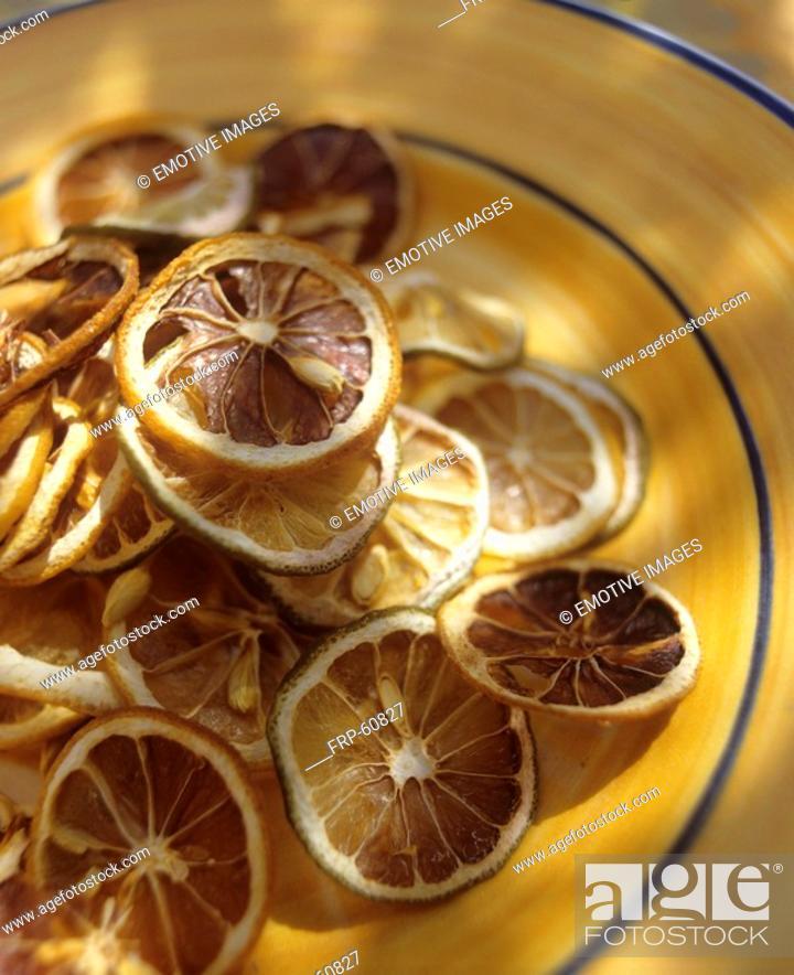 Stock Photo: Lemon slices dried.