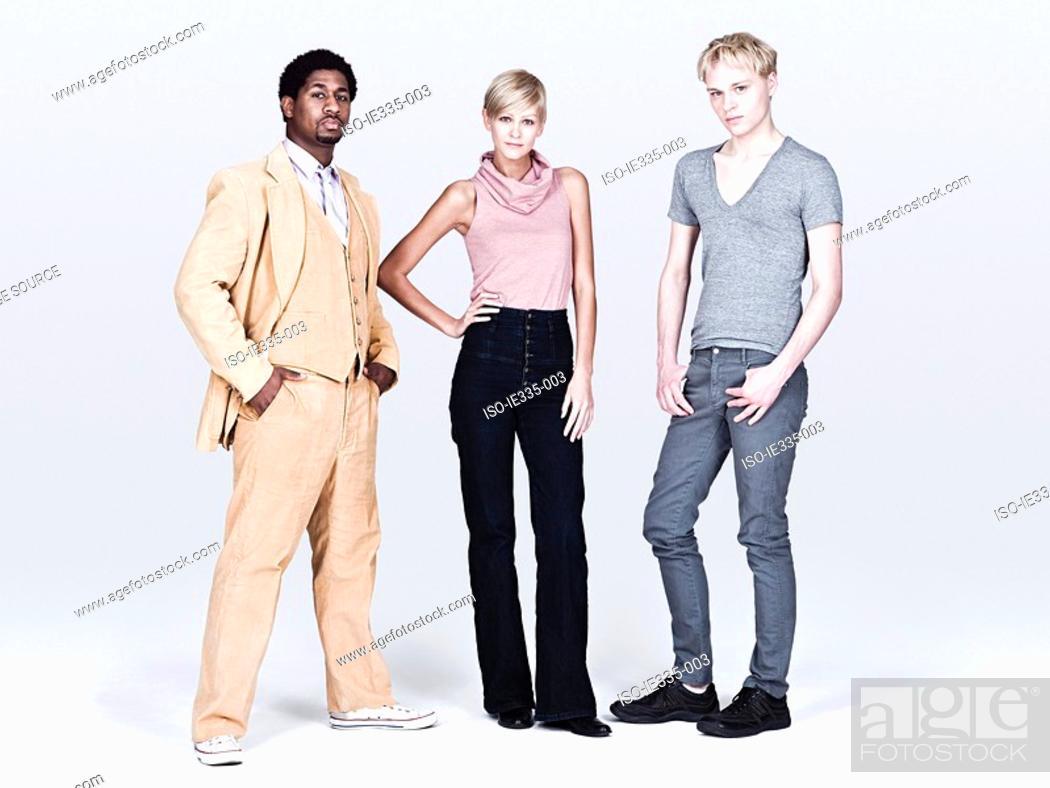 Stock Photo: Stylish young people.