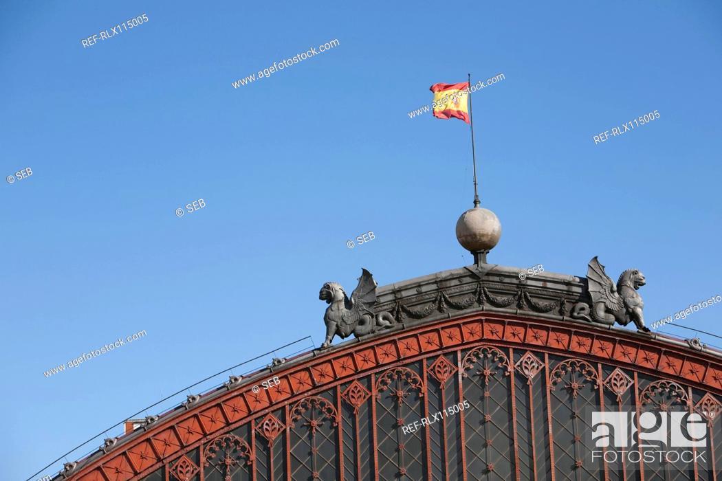 Stock Photo: Estacion de Atocha, train station, Madrid, Spain.