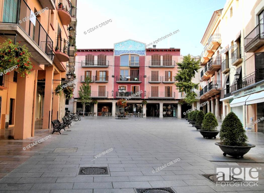 Stock Photo: -'Spain Square' in Cambrils- Tarragona(Spain).