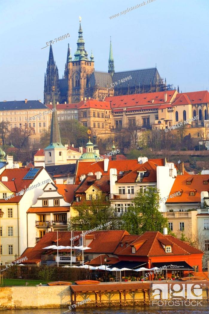 Stock Photo: View of Mala Strana and Prague Castle, Prague, Czech Republic.