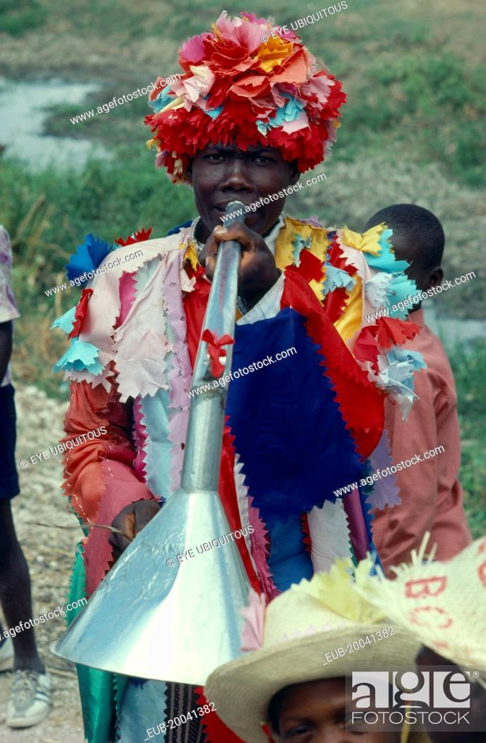 Voodoo priest at Ra Ra dance  The Voodoo years comes to a