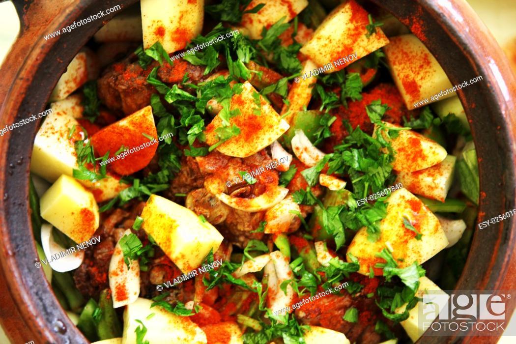 Stock Photo: Lamb stew.