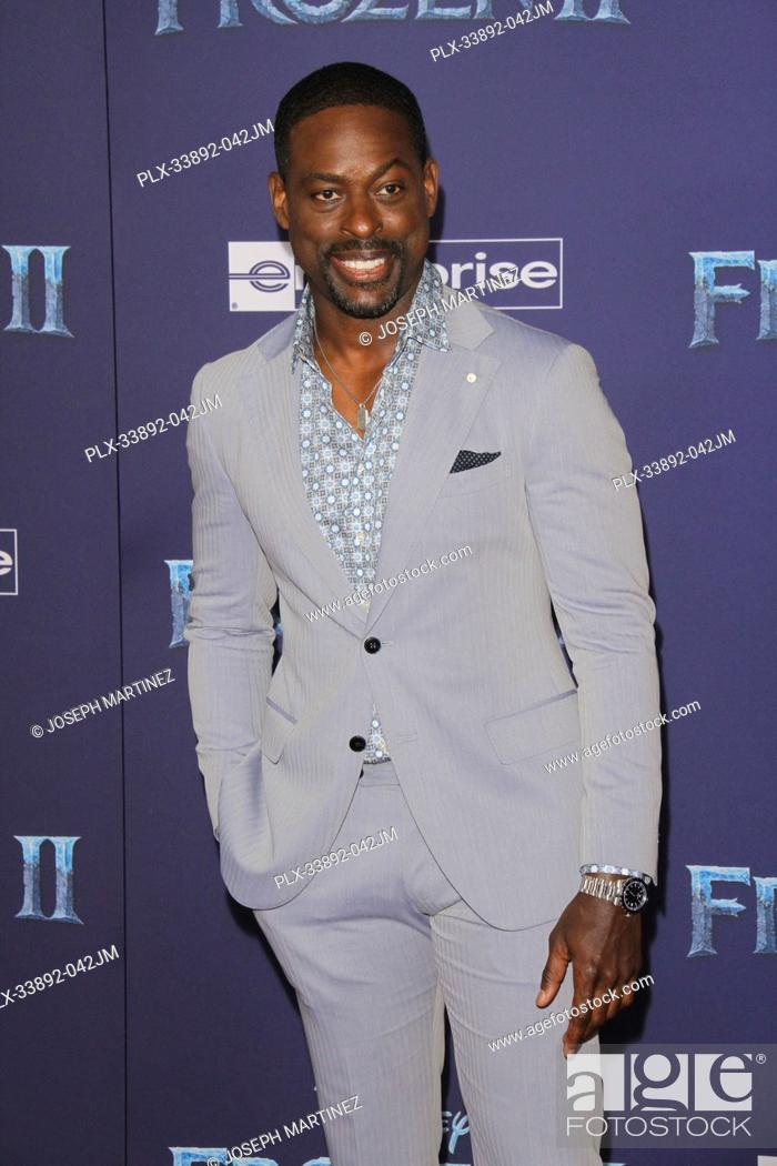 """Stock Photo: Sterling K. Brown at Disney's """"""""Frozen II"""""""" World Premiere held at the Dolby Theatre in Hollywood, CA, November 7, 2019. Photo Credit: Joseph Martinez /."""