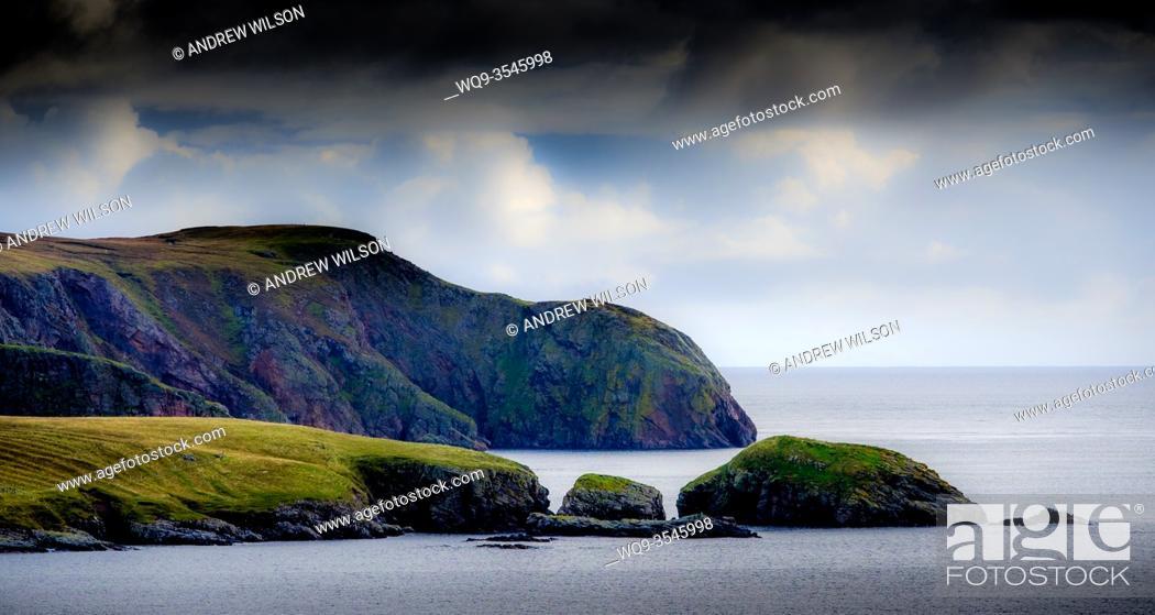 Stock Photo: The coastline at Lower Bayble, Point, near Stornoway, Isle of Lewis, Outer Hebrides, Scotland.