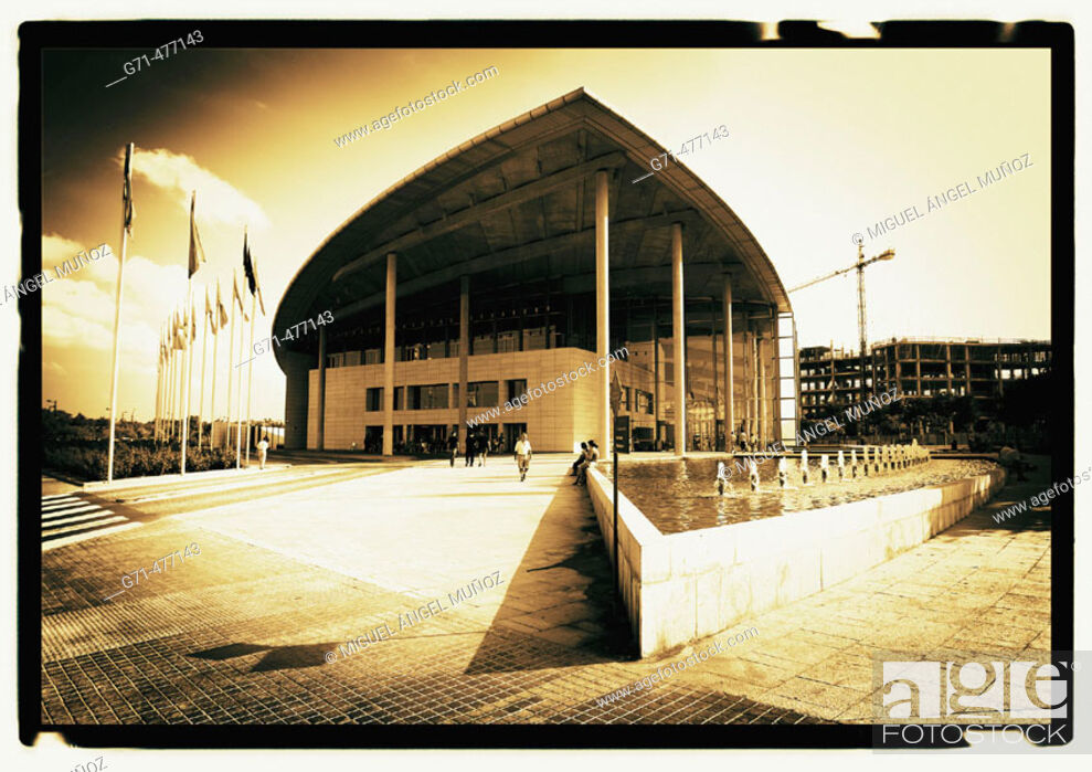 Stock Photo: Palacio de Congresos (Convention Center), by Norman Foster, 1994-1998. Valencia. Spain.
