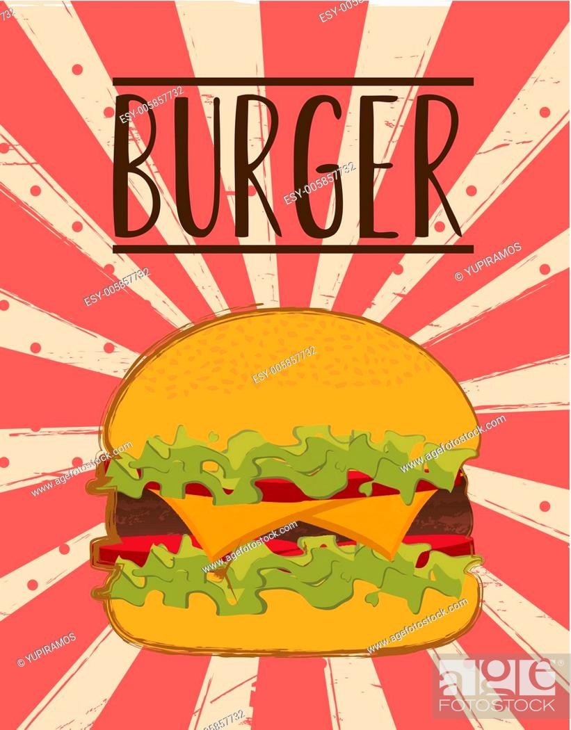 Stock Vector: burger vector.