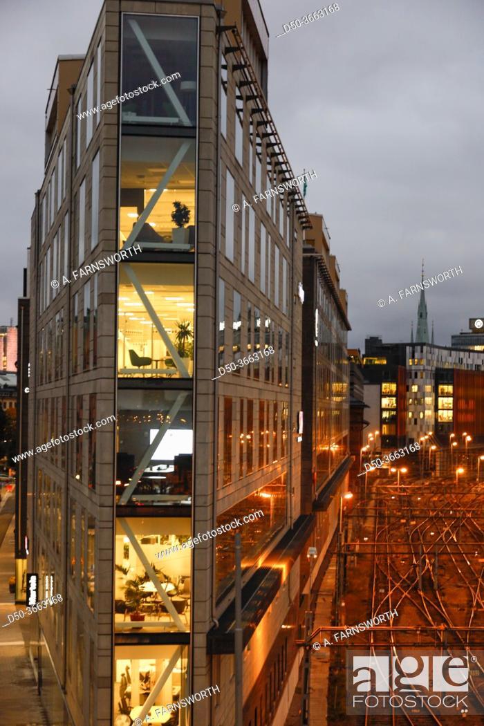 Imagen: Stockholm, Sweden An office building on Torsgatan nd the central railway station.