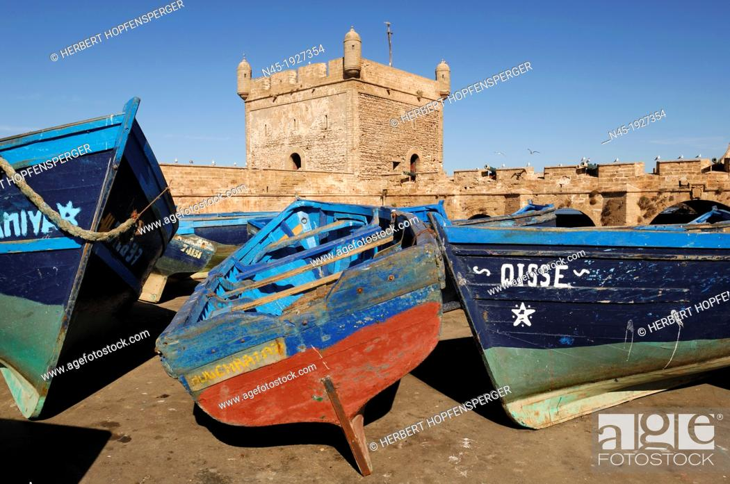 Stock Photo: Essaouira; Harbour; Morocco.