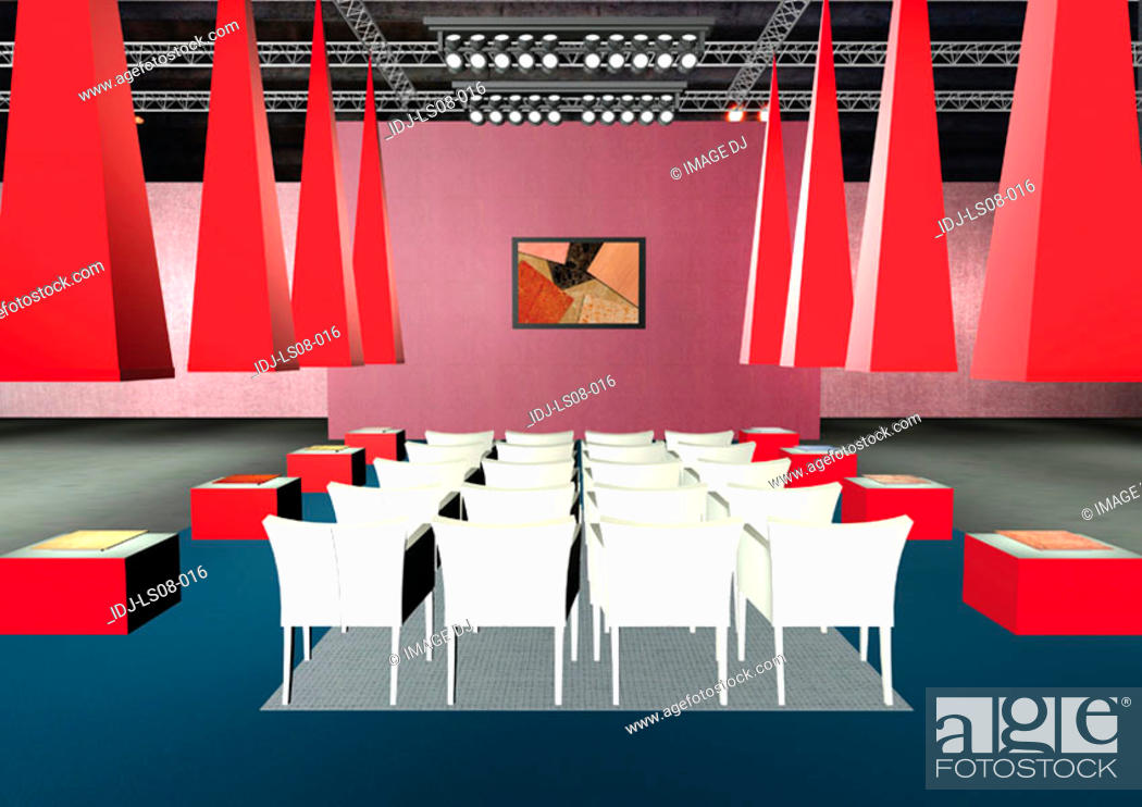 Stock Photo: Graphic representation of an auditorium.