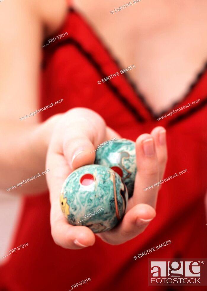 Stock Photo: Qi Gong balls.