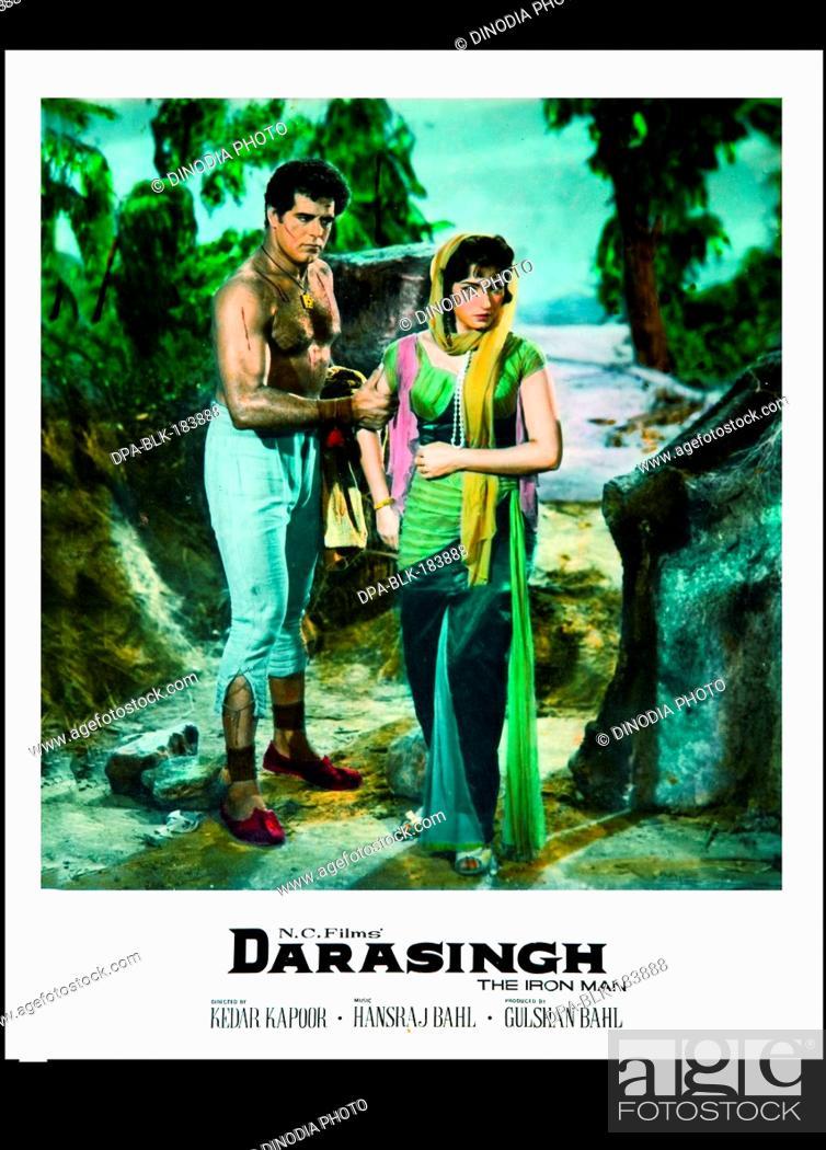 Indian bollywood Film poster of darasingh India, Stock Photo