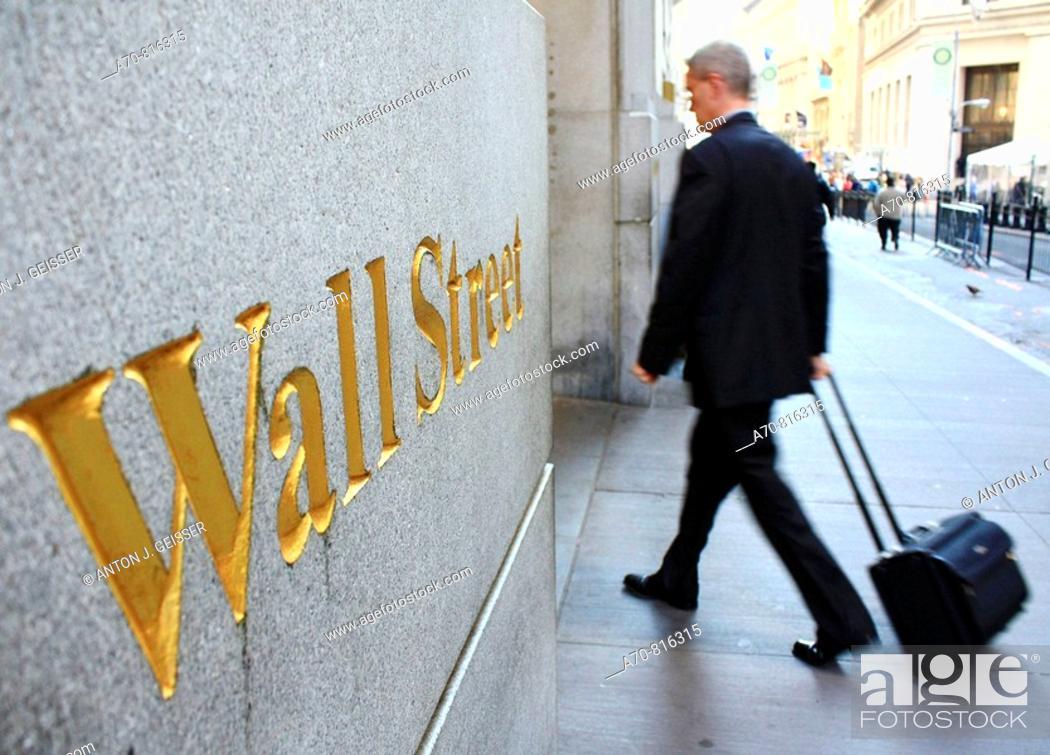 Stock Photo: Wall Street . New York City. USA.