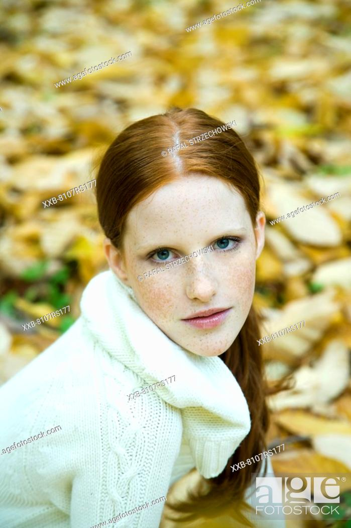 Stock Photo: Portrait of red hair woman.