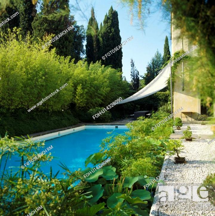 Swimming Pool In Italian Country Garden Stock Photo Picture And