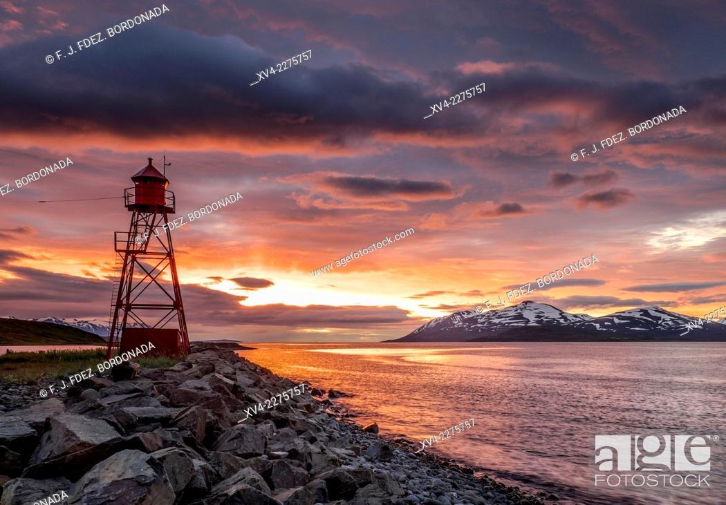 Stock Photo: Hjalteyrarvegur, Iceland.