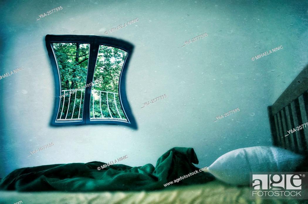 Stock Photo: Empty Bed.