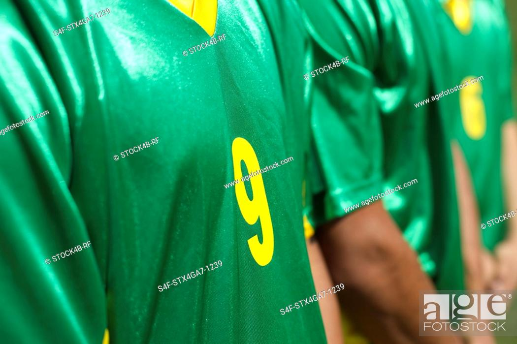 Stock Photo: Brazilian kickers standing side by side.