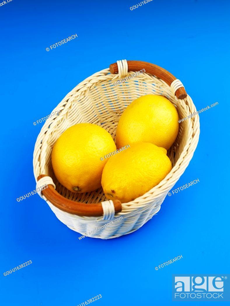 Stock Photo: plant, lemon, fruit, plants, basket.