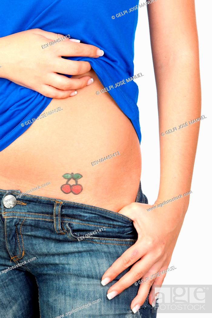 Girl Showing Her Tattoo Stock Photo Picture And Low Budget