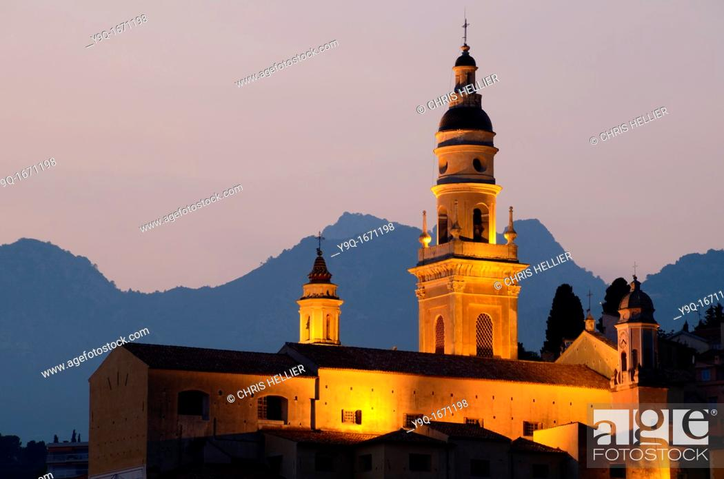 Stock Photo: Saint Michel Cathedral Menton Alpes-Maritimes France.