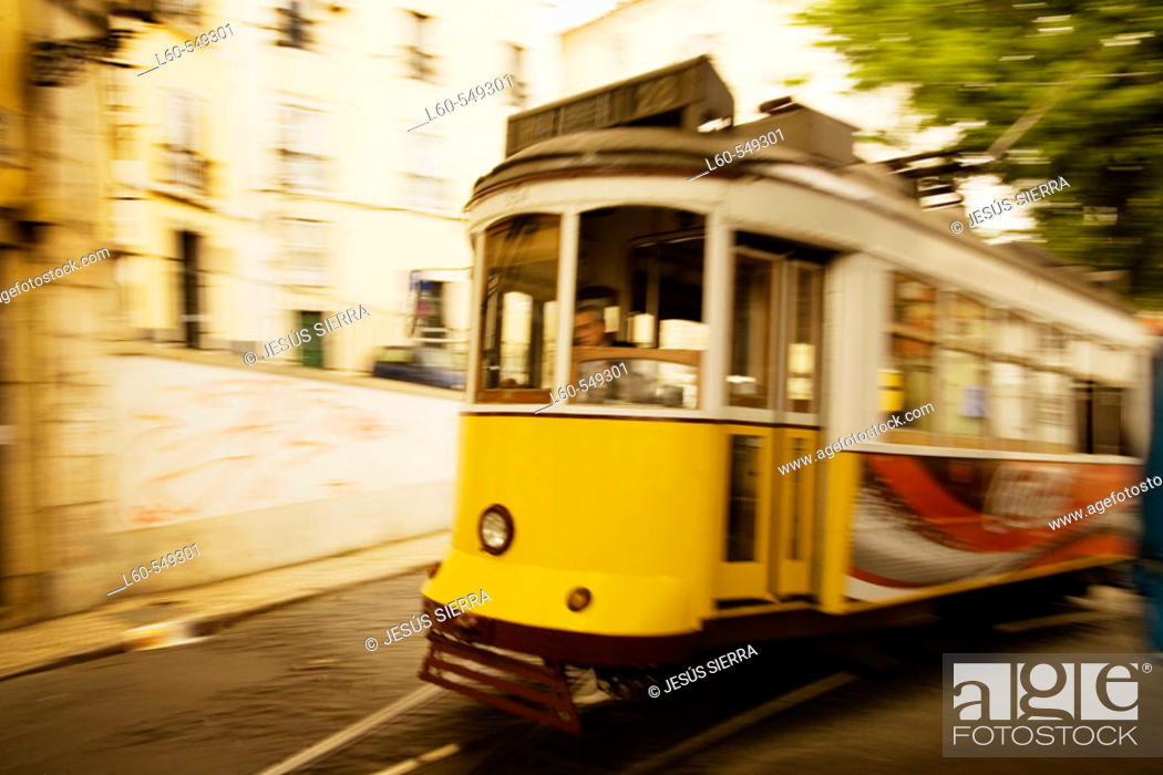 Stock Photo: Tramway. Lisbon. Portugal.