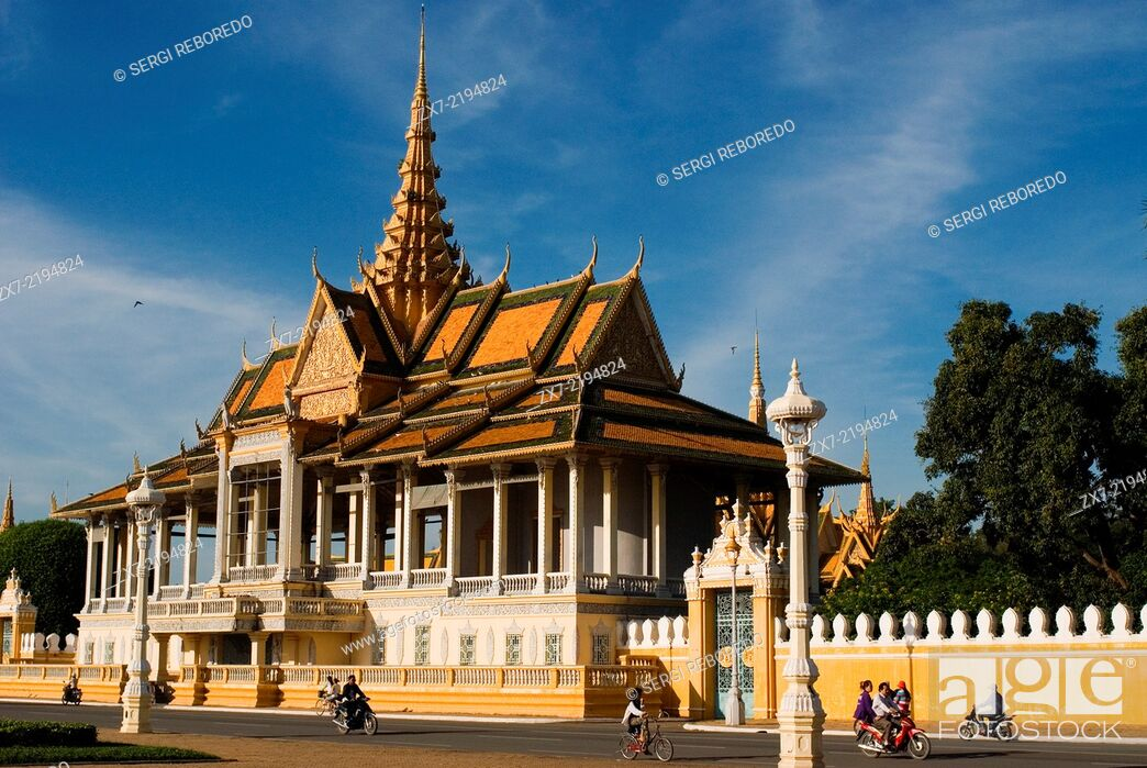 Stock Photo: Royal Palace. Phnom Penh. The Royal Palace in Phnom Penh was constructed over a century ago to serve as the residence of the King of Cambodia.