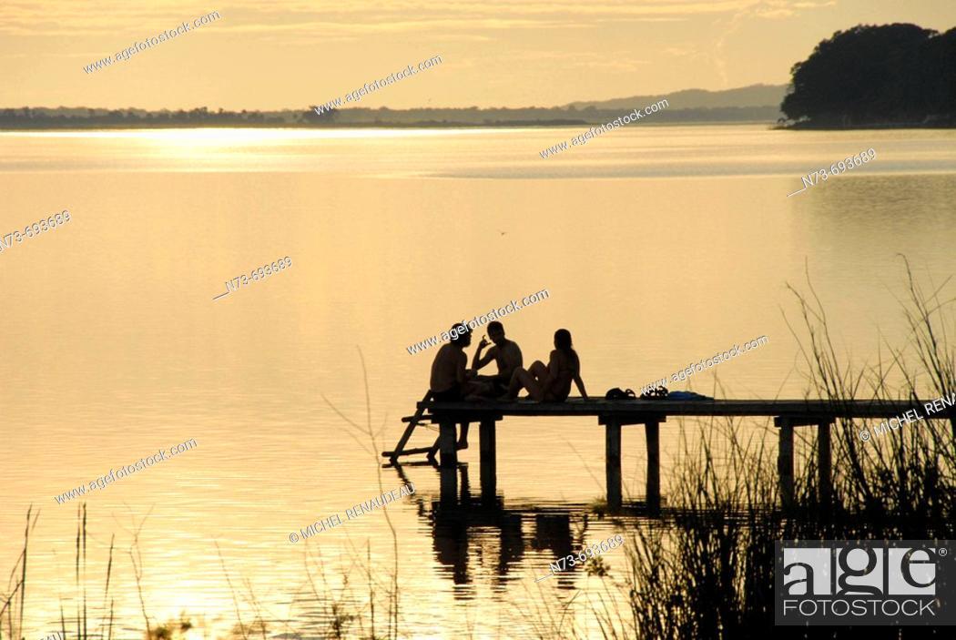 Stock Photo: Lake Peten Itza, Guatemala.