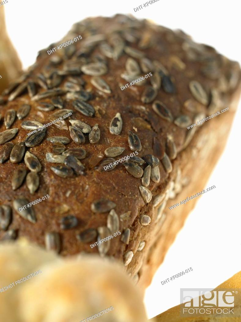 Stock Photo: Loaf of grain Bread.