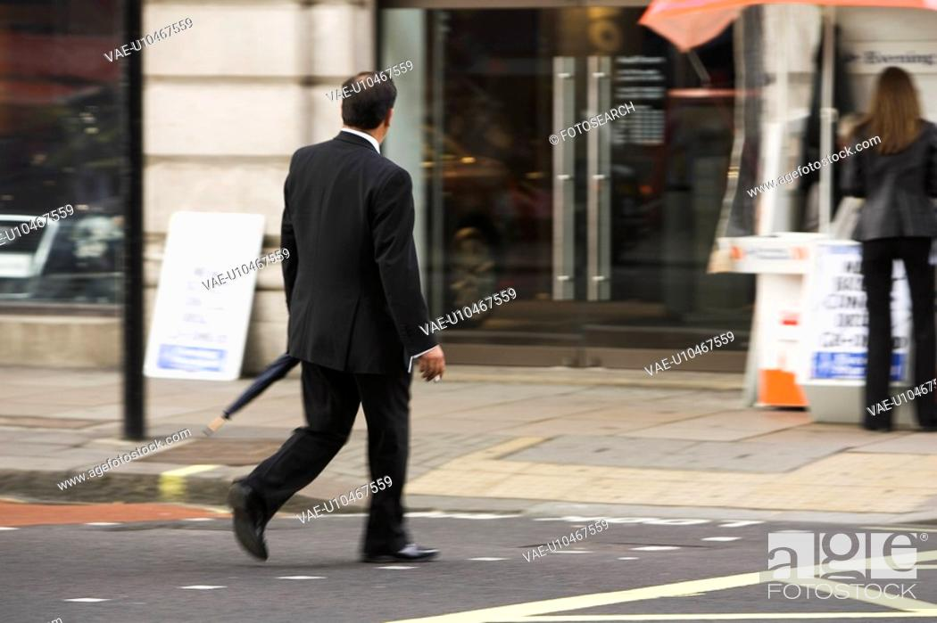 Stock Photo: Standing, Business Suit, Well-Dressed.