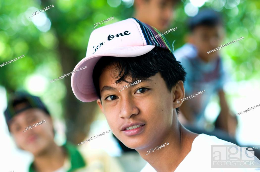 Stock Photo: Boy in Anini-y, Panay, Philippines.