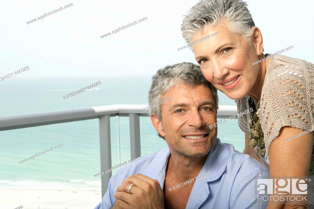 Stock Photo: Portrait of a happy couple.