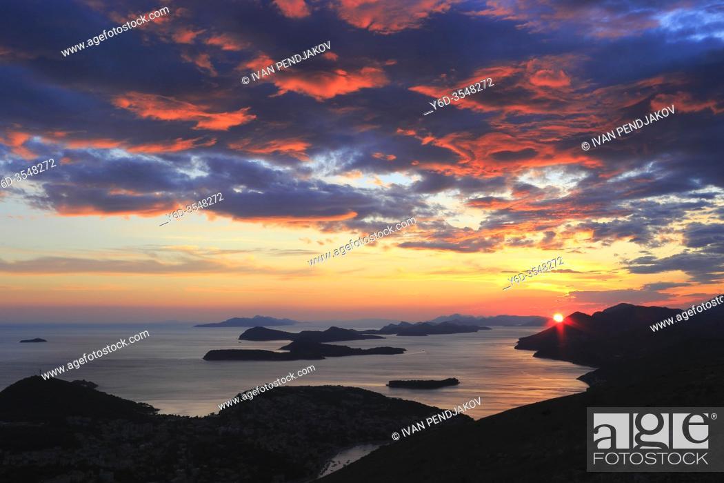 Stock Photo: Dubrovnik Sunset, Croatia.