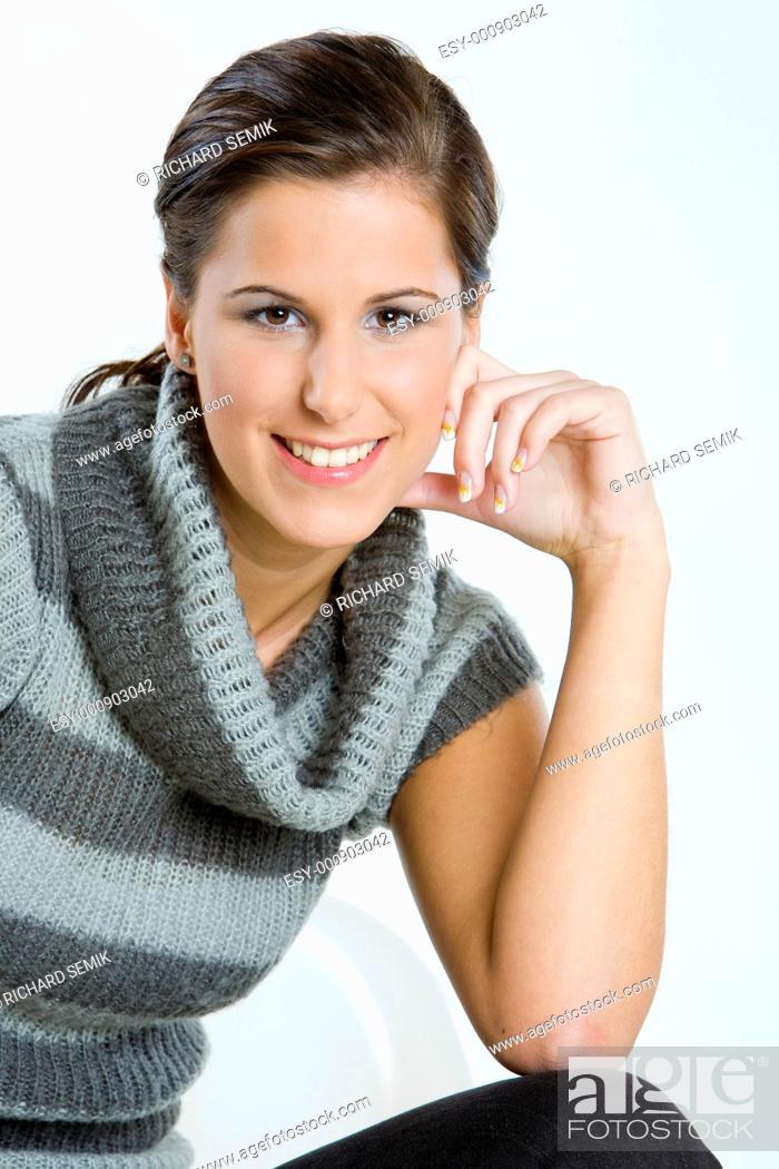 Stock Photo: woman's portrait.