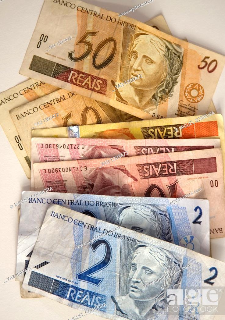 Stock Photo: Brazilian Currency.