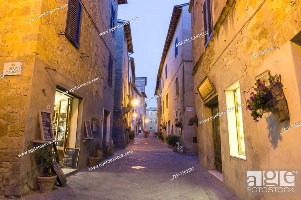 Stock Photo: Pienza Orcia valley Tuscany on July 6, 2019 Italy.