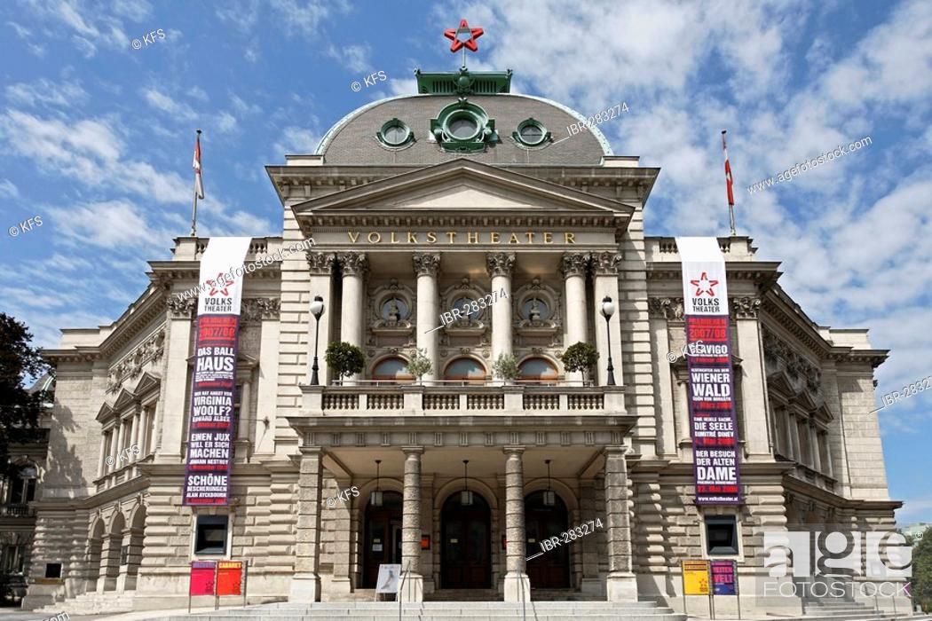 Volkstheater Wien Oesterreich Stock Photo Picture And Rights