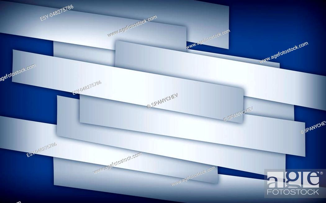 Imagen: Abstract image of white paper strips on blue background with dark corners.