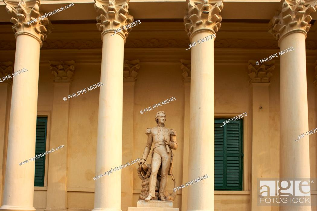 Stock Photo: India, West Bengal, Barrackpore, Govenement House.
