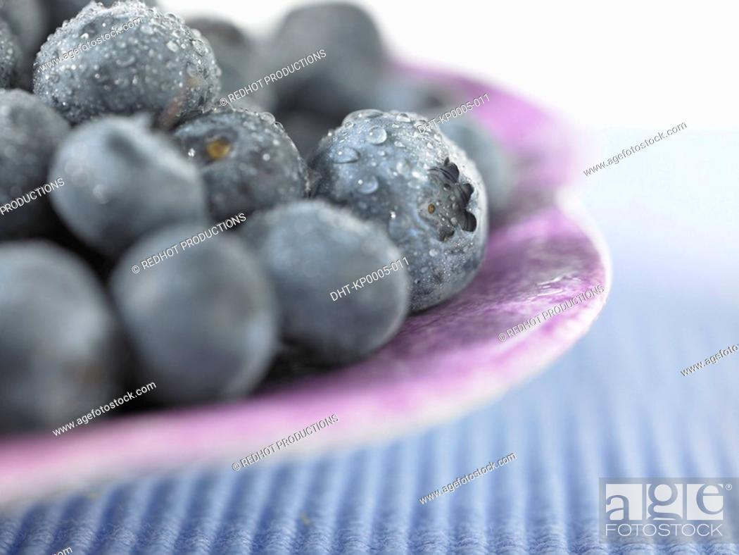 Stock Photo: Food, Fruit, Blueberries.