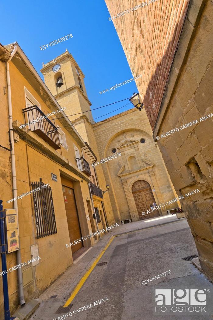 Stock Photo: Parish Church of San Martin, S. XVI, Casalarreina, La Rioja, Spain, Europe.