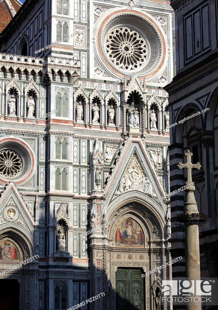 Stock Photo: The Duomo of Santa Maria del Fiore, Florence, Italy.