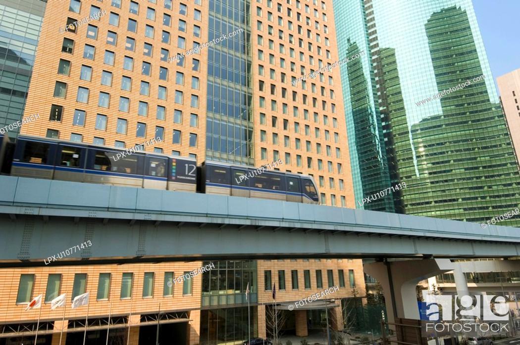 Stock Photo: Yurikamome line.