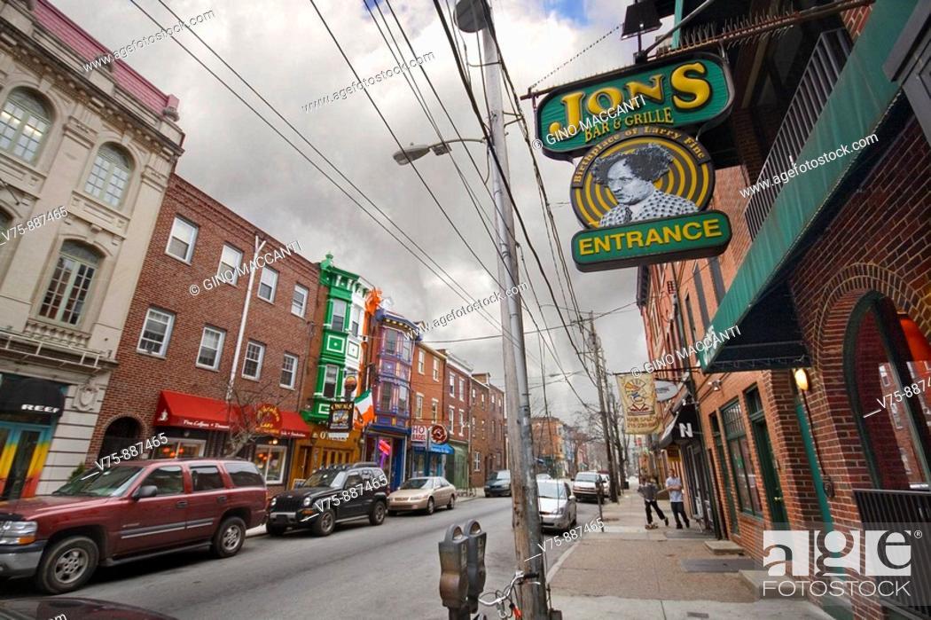 Stock Photo: jons bar entrance in philadelphia.